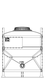 MTC 600 reusable IBC for general purpose liquids.