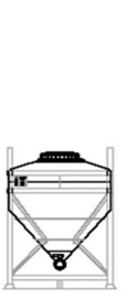 DGL 500 litre IBC for liquid goods.