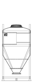 DGC 60 1250 litre IBC for dry goods.