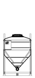 DGL 750 litre IBC for liquid goods.