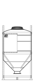 DGC 90 1250 litre IBC for dry goods.