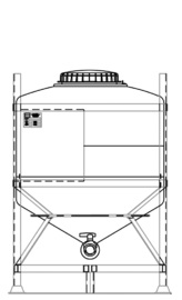 MTC 800 reusable IBC for general purpose liquids.