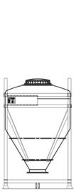 DGC 60 750 litre IBC for dry goods.