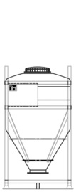 DGC 60 1000 litre IBC for dry goods.
