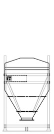 DGO 60 750 litre IBC for dry goods.