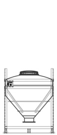 DGC 90 500 litre IBC for dry goods.