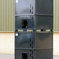 The HGS IBC has a heavy duty welded steel frame and rotationally moulded liner.