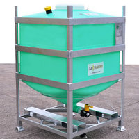 The MTC IBC has a steel frame and rotationally moulded seamless plastic liner.
