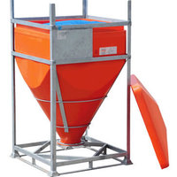 DGO 60 IBC has a steel frame and rotationally moulded seamless plastic liner.
