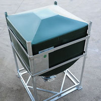 The DGC 60 IBC has optional top inlets and bottom outlets.