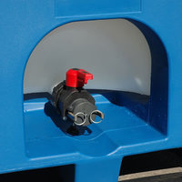 The 155mm inlet has a HDPE¹ screw cap fitted with an EPDM³ O-ring seal as standard.