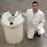 45 litre Annu-drum for the safe storage of nuclear fissile liquids.