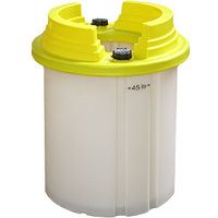 Annu-drum - reusable plastic drums for fissile liquids.