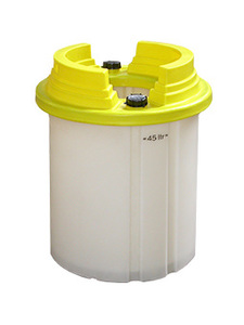 Annu-drum - container for storage of fissile liquids.