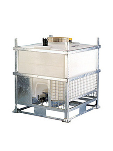 MTS reusable IBC for storage and transportation of liquids.